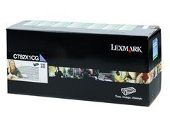 C782X1CG LEXMARK C782N CARTR CYAN HC 15.000pages high capacity return