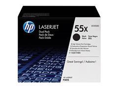 CE255XD HP LJ P3010 CARTRIDGE (2) BLK HC HP55X 2x12.500pages high capacity
