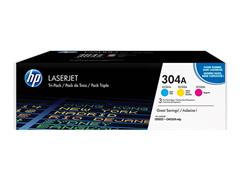 CF372AM HP CP2025 CARTRIDGE (3) CMY HP304A 3x2800pages