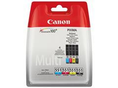 CLI551Z CANON IP7250 INK (4) CMYK 6509B009 No.551 4x7ml w/o SEC