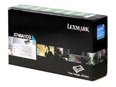 X746A1CG LEXMARK X746 TONER CYAN 7000pages return