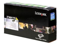 X746A1YG LEXMARK X746 TONER YELLOW 7000pages return