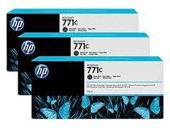 B6Y31A HP DNJ Z6200 INK (3) MATTE BLACK HP771C 3x775ml