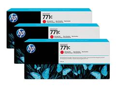 B6Y32A HP DNJ Z6200 INK (3) CHROME RED HP771C 3x775ml