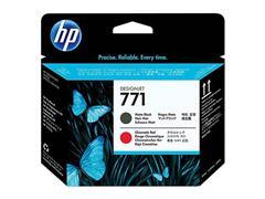 CE017A HP DNJZ6200 PRINTHEAD MBK+CHR RED HP771 775ml matt black + chromatic red