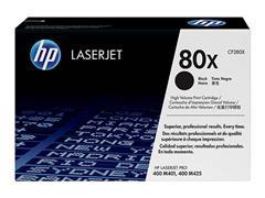 CF280X HP LJPRO400 M401 CARTRIDGE BLK HC HP80X 6900pages high capacity