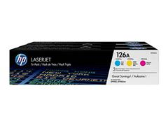 CF341A HP CLJ CP1025 TONER (3) CMY HP126A 3x1000pages