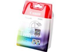 CLI36 CANON MINI260 INK (2) COLOR 1511B018 No.36 2x12ml blister w/o sec
