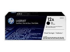 Q2612AD HP LJ1010 CARTRIDGE (2) BLACK ST HP12A 2x2000pages standard capacity