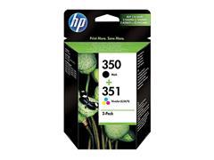 SD412EE HP OJ5780 INK (2) BLK+COL ST HP350 black + HP351 color standard capac