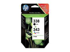 SD449EE HP DJ5740 INK (2) BLACK+COLOR HP338 black + HP343 color