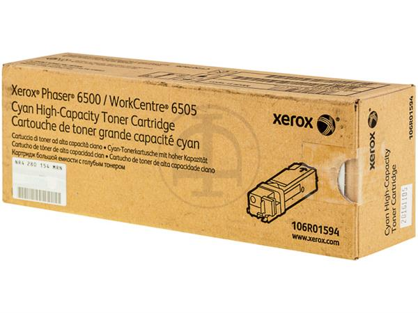 106R1594 XEROX PH6500 TONER CYAN HC 2500pages high capacity