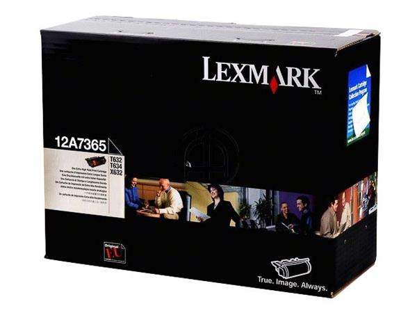 12A7365 LEXMARK T632 CARTRIDGE BLACK HC 32.000pages extra high capacity