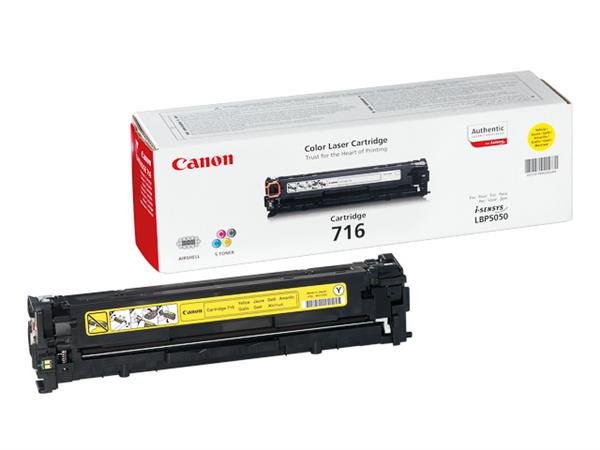 1977B002 CANON LBP5050 CARTRIDGE YELLOW 716Y 1500p