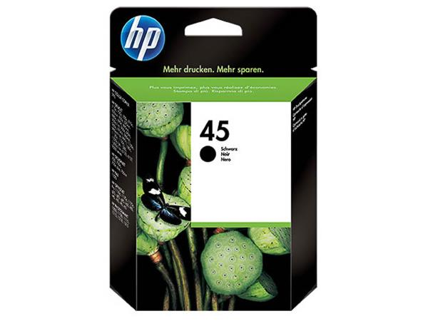 51645AE HP DJ 710C PRINTHEAD BLACK HP45 42ml 930pa