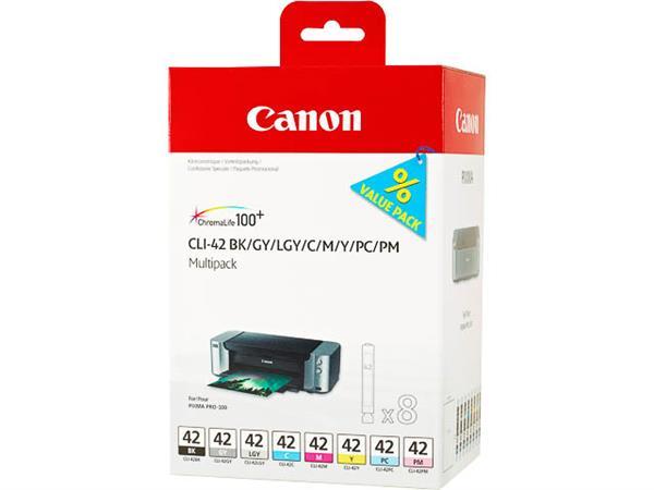 CLI42 CANON PRO100 INK (8) 6384B010 No.42 8x13ml G