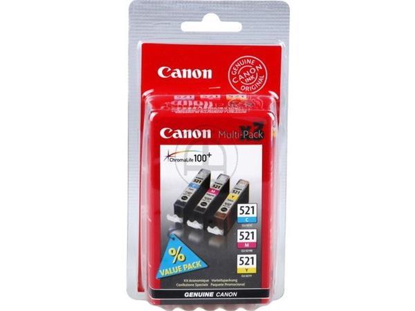 CLI521Z CANON MP540 INK (3) CMY 2934B010 No.521 3x