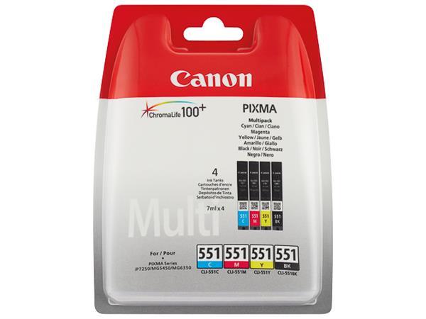 CLI551Z CANON IP7250 INK (4) CMYK 6509B009 No.551