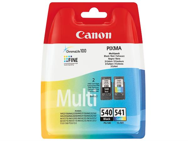 PG540B+CL541C CANON MG2150 INK (2) BK-CL 5225B006
