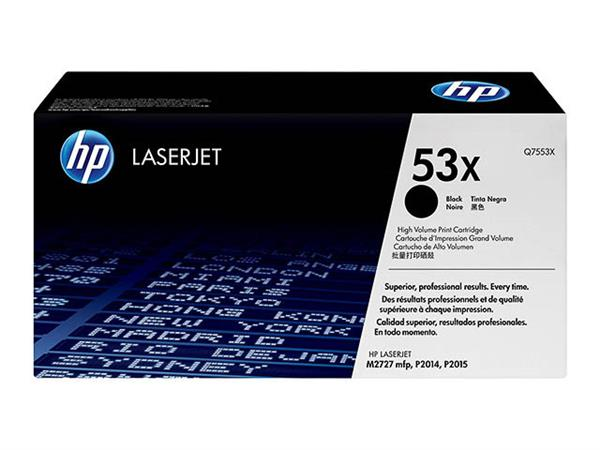 Q7553X HP LJ P2015 CARTRIDGE BLACK HC HP53X 7000pa