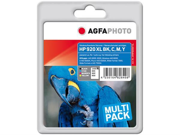 APHP920SETXL HP. OJ6000 INK (4) CMYK 1x34ml black + 3x11ml cmy
