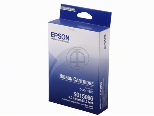 C13S015066 EPSON DLQ3000 RIBBON NYLON BK 6mil sign