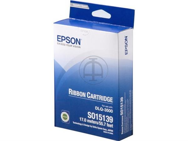 C13S015139 EPSON DLQ3500 RIBBON NYLON BK 9mil sign