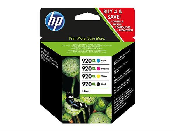 C2N92AE HP OJ6500 INK (4) CMYK HC HP920XL 1x49ml b
