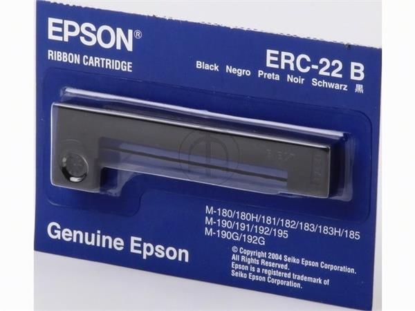C43S015358 EPSON ERC22B RIBBON NYLON BLK 6mil sign