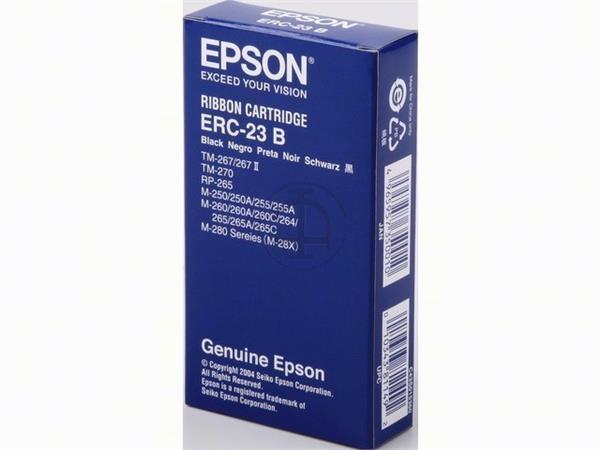 C43S015360 EPSON ERC23B RIBBON NYLON BLK 1.5mil si