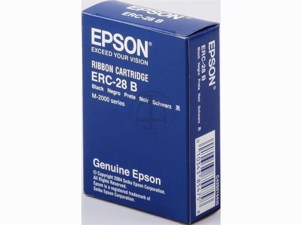C43S015435 EPSON ERC28B RIBBON NYLON BLK 5mil sign