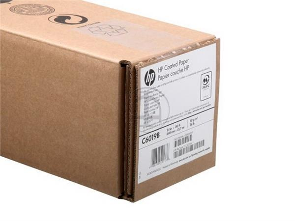 C6019B HP COATED PAPER ROLL 24 610mmx45m 90gr