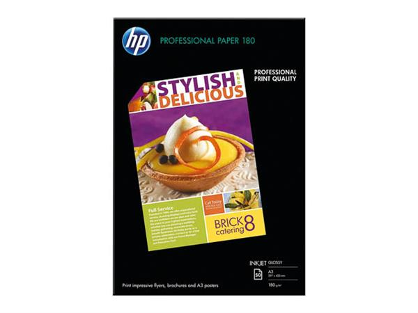 C6821A HP BROCHURE FLYER A3 50sheets 180gr high gl