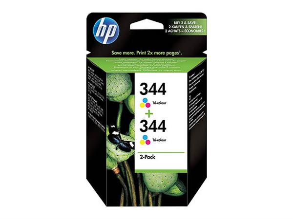 C9505EE HP PS325 INK (2) COLOR HP344 2x14ml 2x570p
