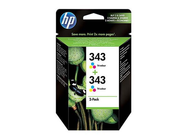 CB332EE HP DJ5740 INK(2) COLOR HP343 2x7ml 2x330pa