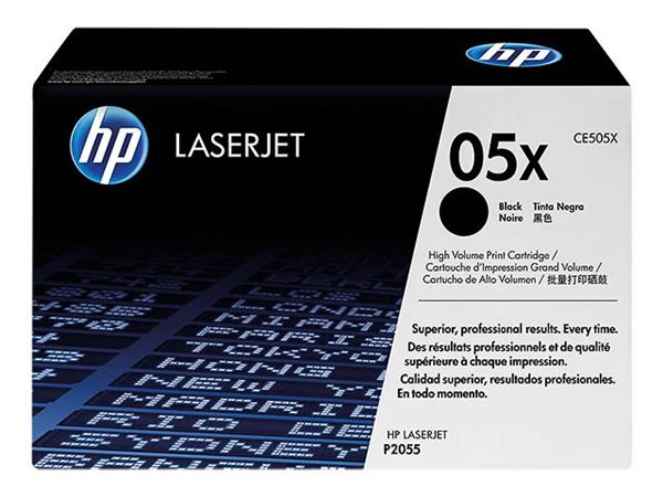 CE505X HP LJP2055 CARTRIDGE BLACK HC HP05X 6500pages high capacity