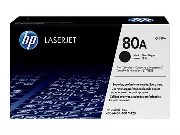 CF280A HP LJPRO400 M401 CARTRIDGE BLK ST HP80A 256
