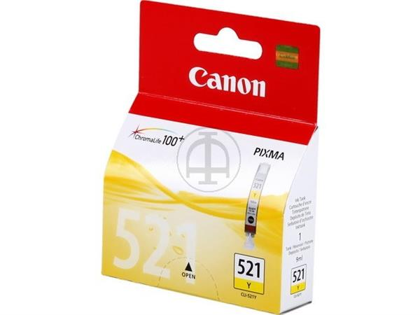 CLI521Y CANON MP540 INK YELLOW 2936B001 No.521 9ml