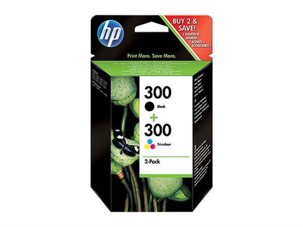 CN637EE HP DJD2560 INK (2) BLK+COL HP300 black + c