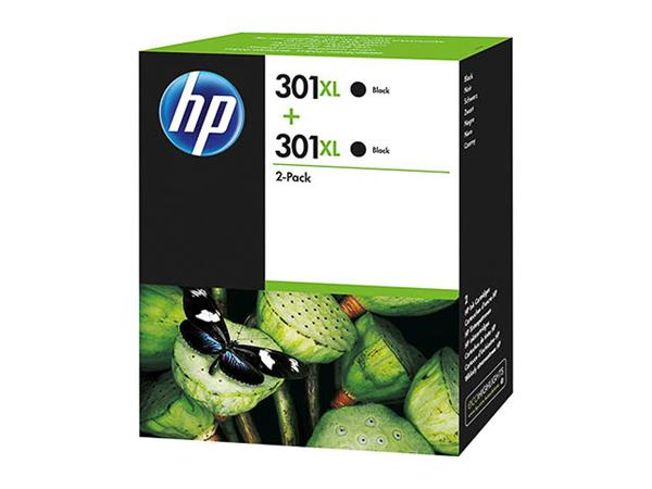 D8J45AE HP DJ1050 INK (2) BLACK HP301XL 8ml 2x480p