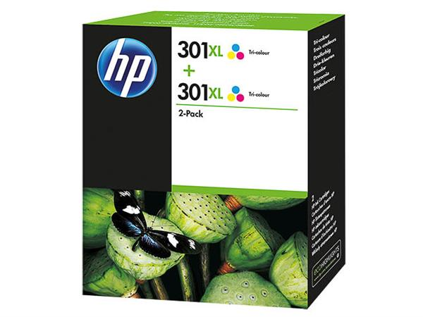 D8J46AE HP DJ1050 INK (2) COLOR HP301XL 6ml 2x330pages