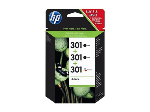 E5Y87EE HP DJ1050 INK (3) BLACK+COLOR HP301 2x190p