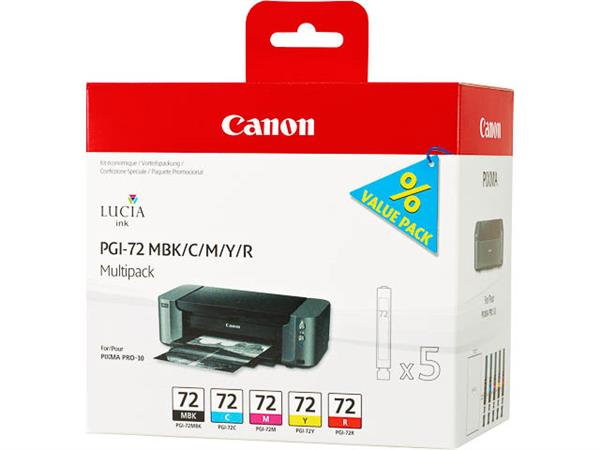 PGI72 CANON PRO10 INK (5) 6402B009 No.72 x14ml MBK/C/M/Y/R