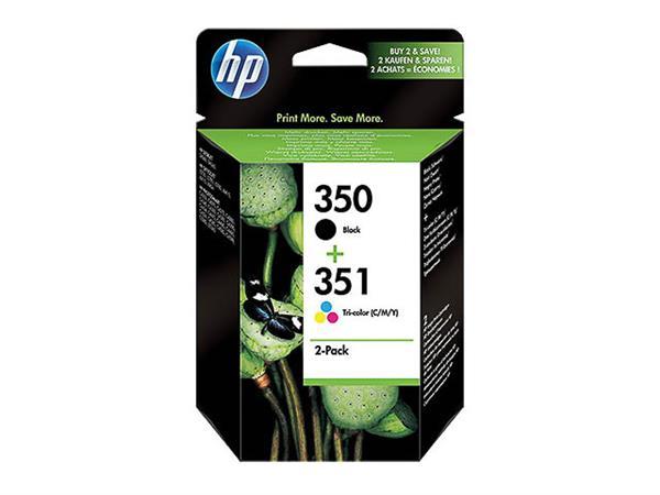 SD412EE HP OJ5780 INK (2) BLK+COL ST HP350 black +