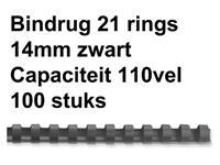 BINDRUG FELLOWES 14MM 21RINGS A4 ZWART