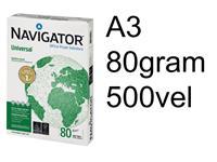 KOPIEERPAPIER NAVIGATOR UNIVERSAL A3 80GR WIT