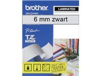 LABELTAPE BROTHER TZE-111 6MMX8M TR/ZWART