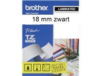 LABELTAPE BROTHER TZE-241 18MMX8M WIT/ZWART