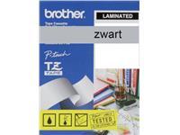 LABELTAPE BROTHER TZE-M951 24MM MAT ZILVER/ZWART