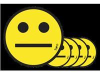 MAGNEET SMILEY 5CM EMOTIE NEUTRAAL GEEL